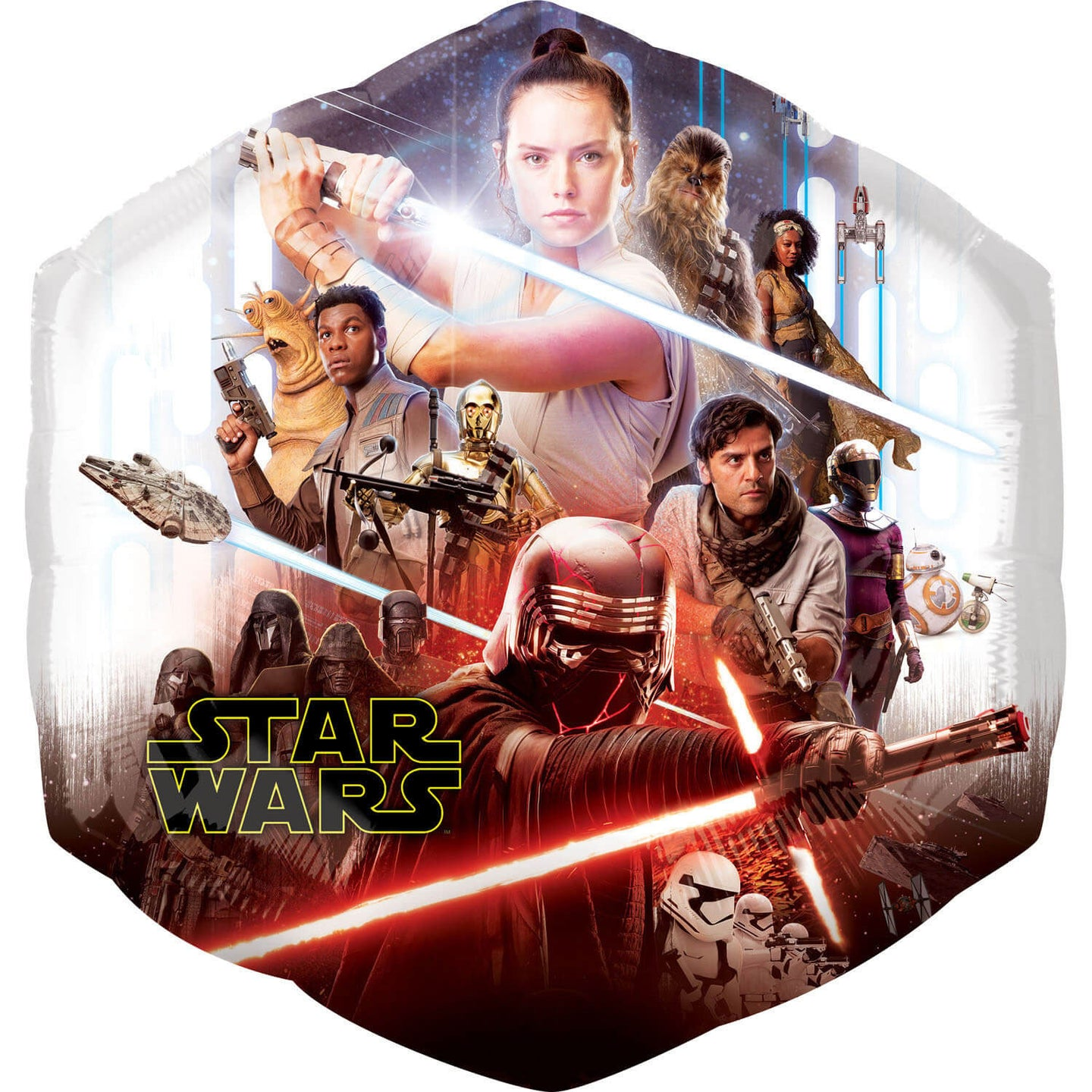 SuperShape Star Wars Episode IX Der Aufstieg Skywalkers Folienballon 55x58 cm