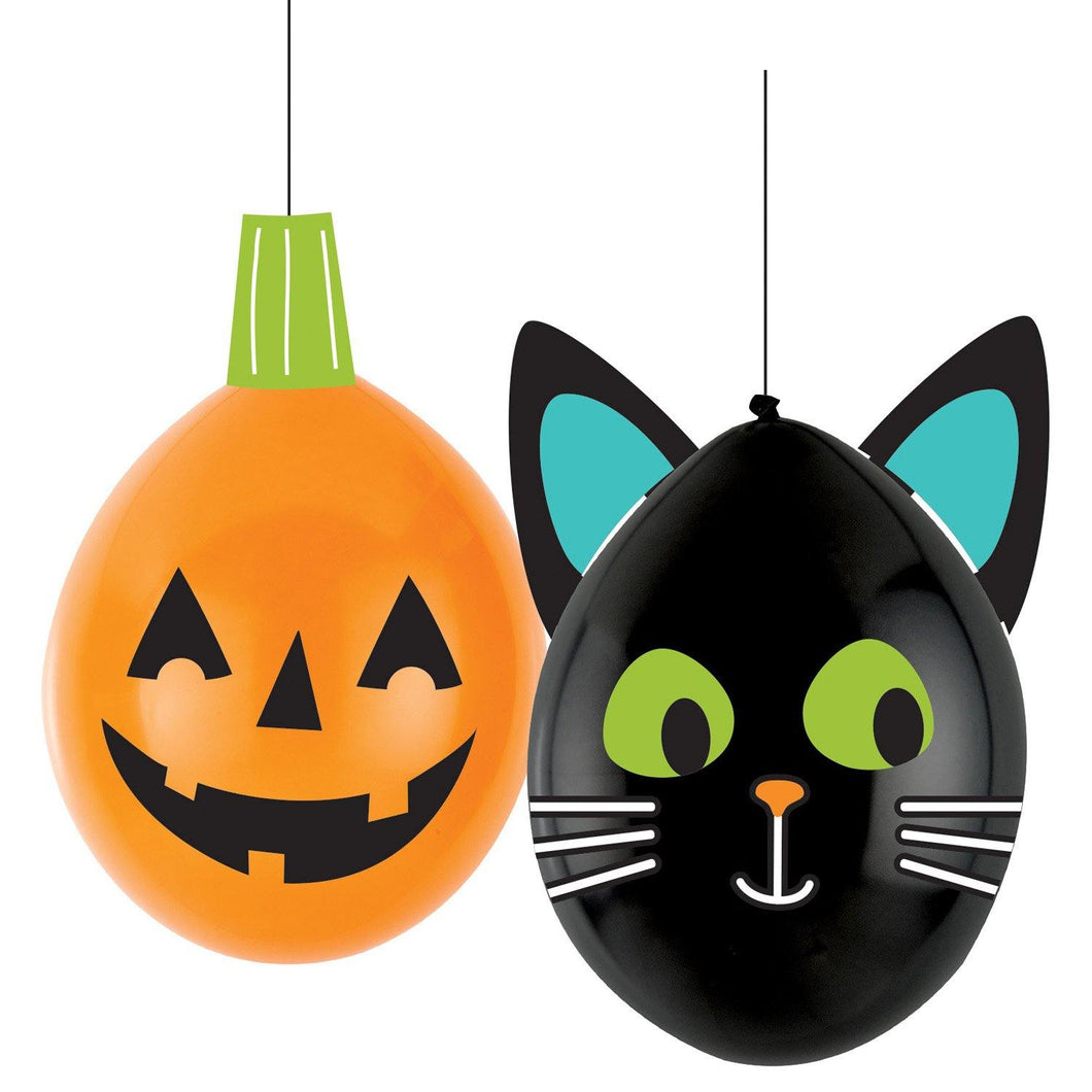 4 Latex-Ballons DIY Hallo-ween Friends 12