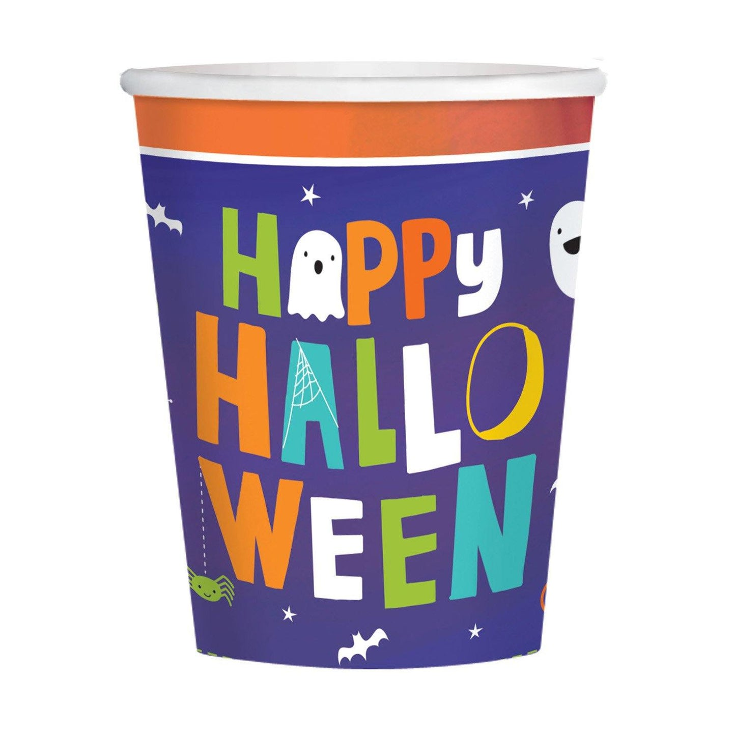 8 Becher Hallo-ween Friends Papier 266 ml