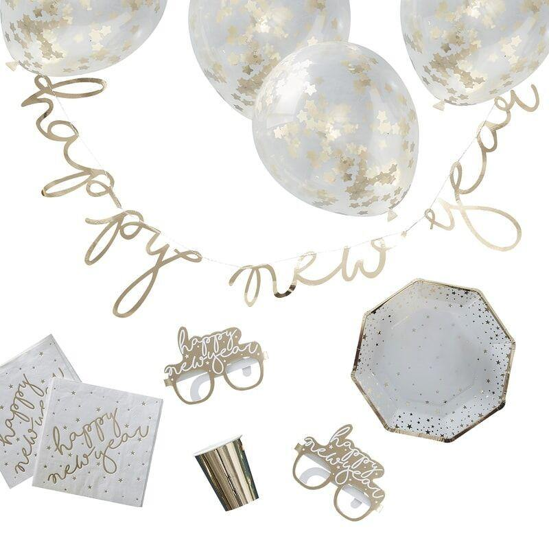 Gold Foiled Neue Years Eve Party-Sets image
