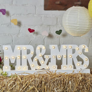 Mr & Mrs batteriebetriebenes Lichterschild - Ginger Ray Lichter