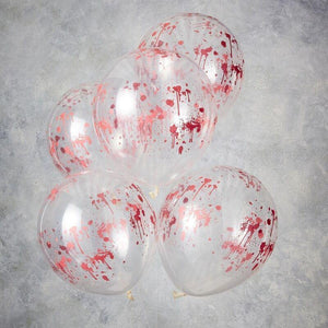Blood Print Halloween Party Balloons image