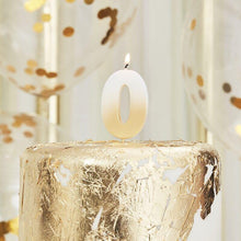 Lade das Bild in den Galerie-Viewer, Gold Ombre 0 Number Birthday Candle image