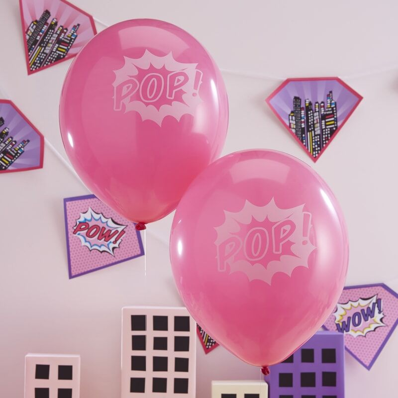 Pop-Art Luftballons - Superhelden-Party