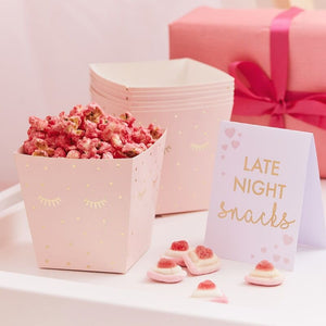 Rosa Snack-Becher Set