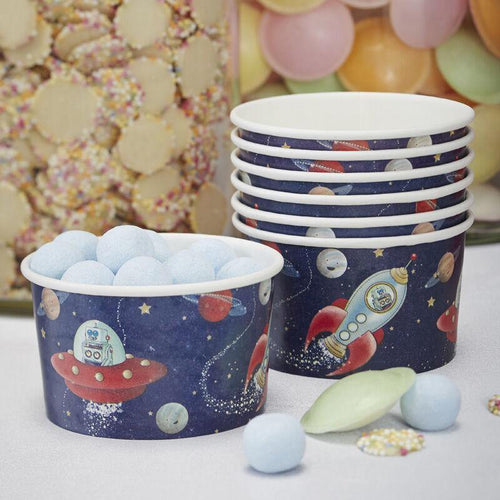 Space and Rocket Treat / Ice Cream Tubs - Weltraum-Abenteuer Party image