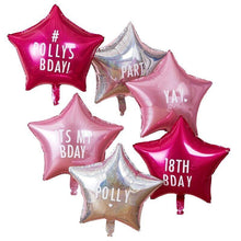 Lade das Bild in den Galerie-Viewer, Personalisable Star Party Balloons with Stickers image