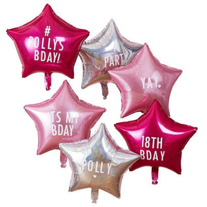 Personalisable Star Party Balloons with Stickers image
