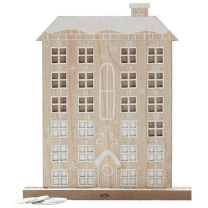 Wooden Reuseable Advent Calendar House image
