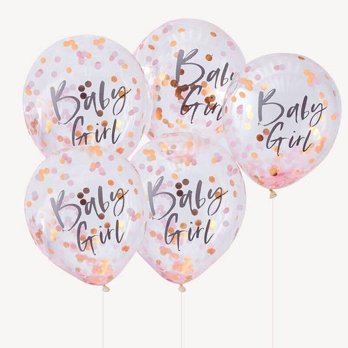 Baby Girl Pink Babyparty Balloons image
