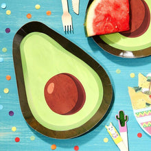 Lade das Bild in den Galerie-Viewer, Avocado Shaped Paper Plates - Fiesta Mexicana image