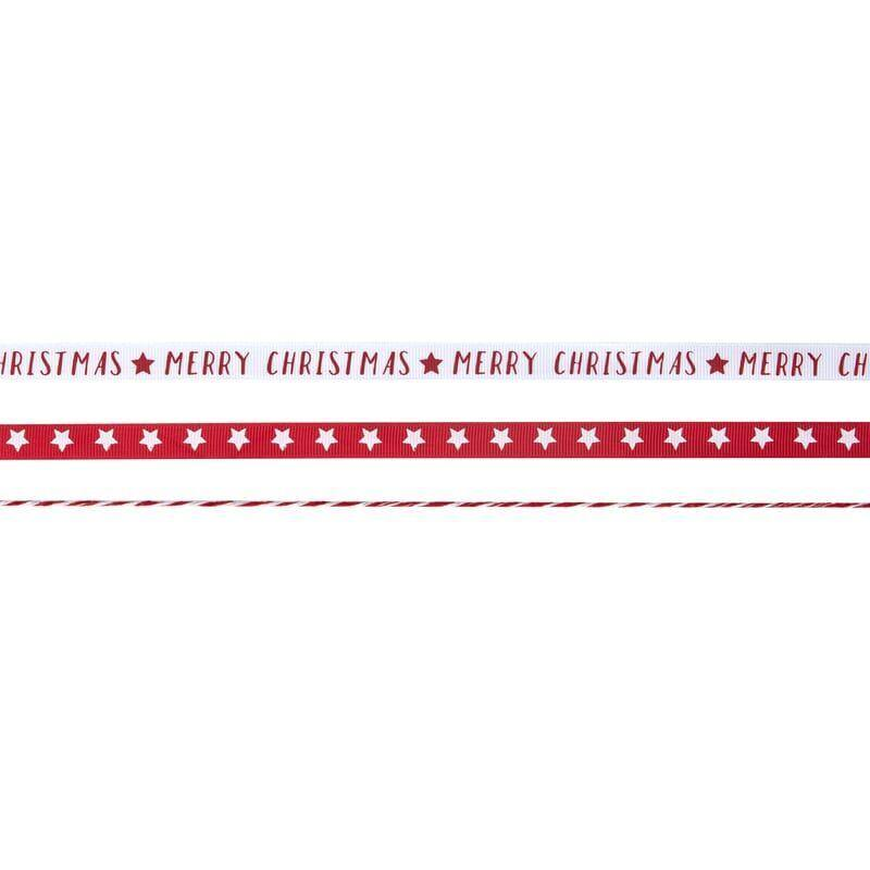 Red & White Merry Christmas Ribbon Kit image