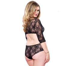 Load image into Gallery viewer, Leg Avenue Cut Out Floral Lace Teddy UK 18 to 22