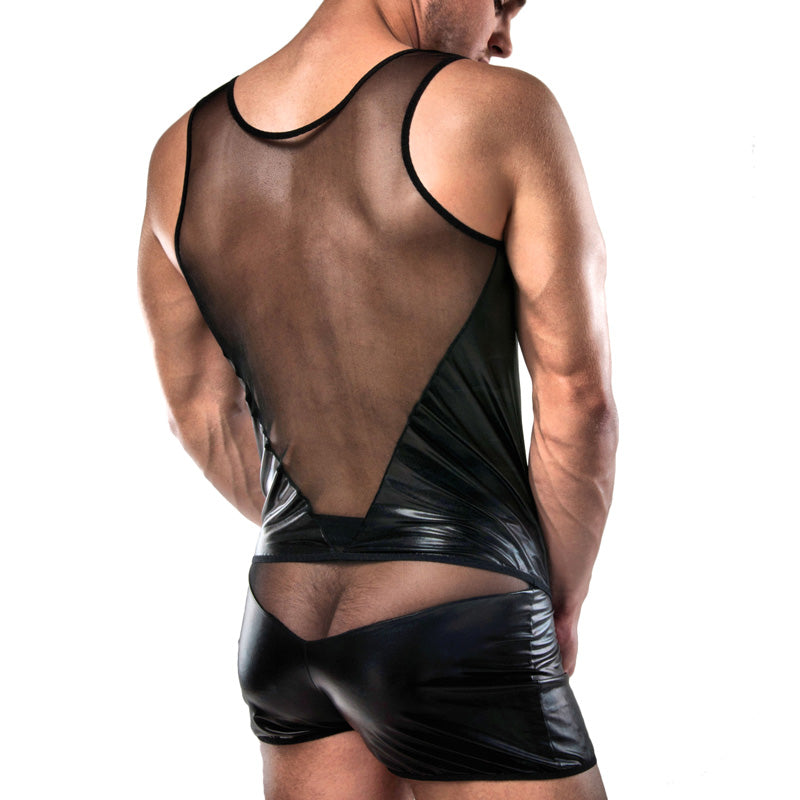 Passion Wet Look Shorts And Vest