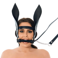 Load image into Gallery viewer, Horsebit Mouth Gag With Reins And Ears