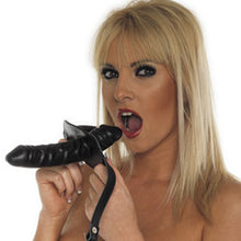 Load image into Gallery viewer, Leather Penis Gag And Dildo