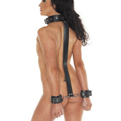 Leather Neck And Wrist Cuffs