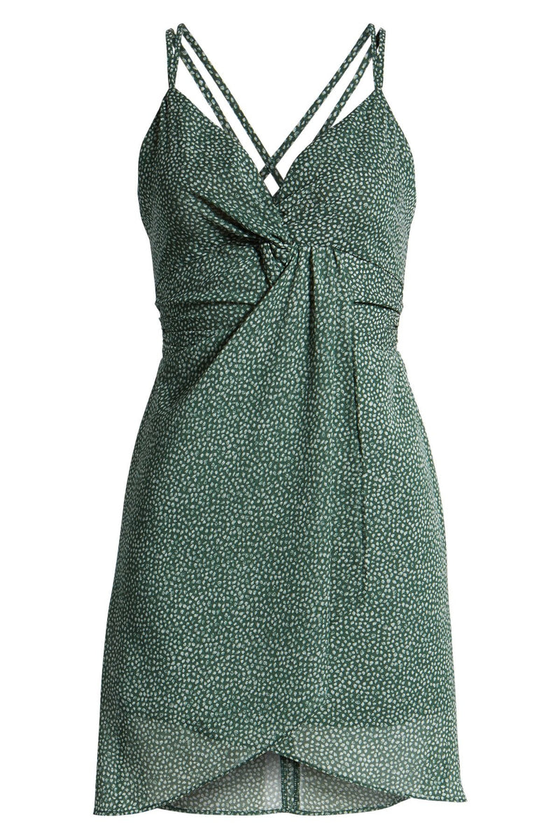 J.O.A. Woven Front Twist Dress