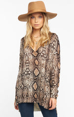 Show Me Your Mumu Hug Me Sweater Python Knit