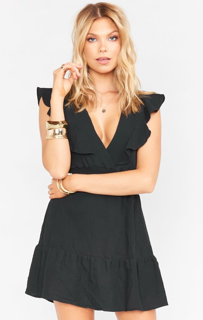 Show Me Your Mumu Adella Mini Dress Black