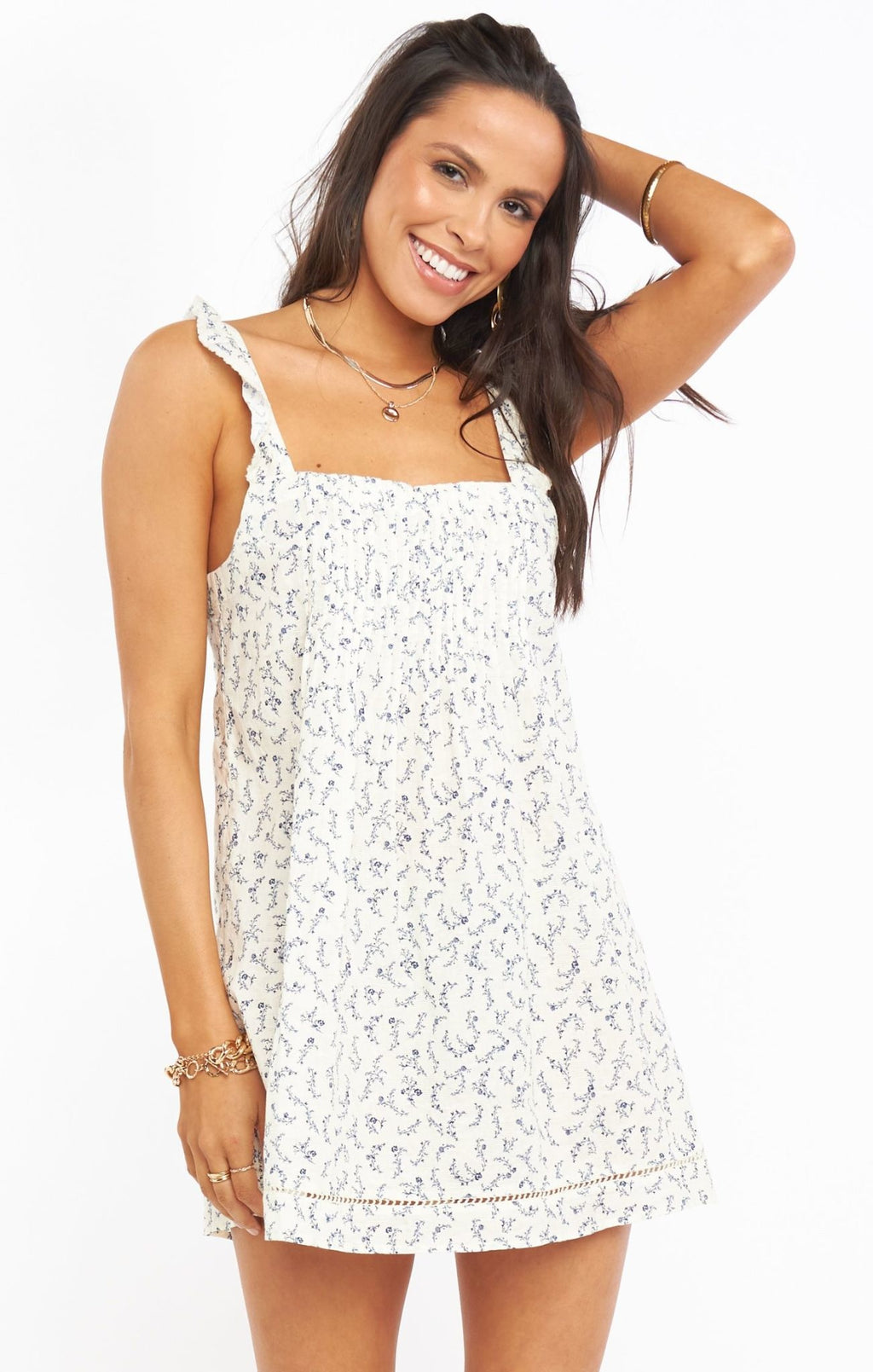 Show Me Your Mumu Odie Mini Dress Cornflower Blues