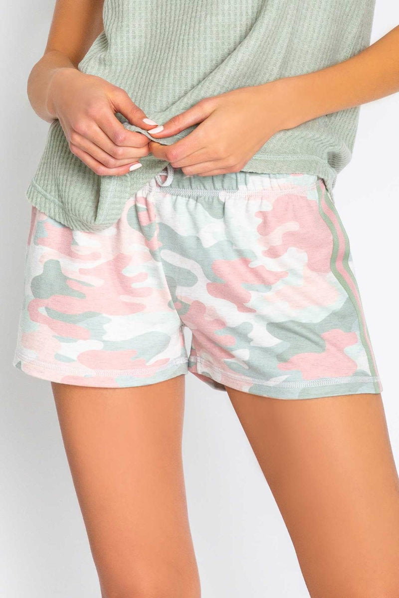 P.J. Salvage Camo In Color Shorts