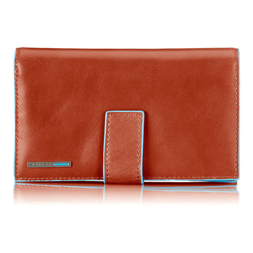 Blue Square - Women's 3/4 Length Wallet with Coin Case and Credit Cards (5884421406884) (5942562717860)
