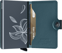 Load image into Gallery viewer, Stitch Magnolia Petrolio Miniwallet (5906408112292)