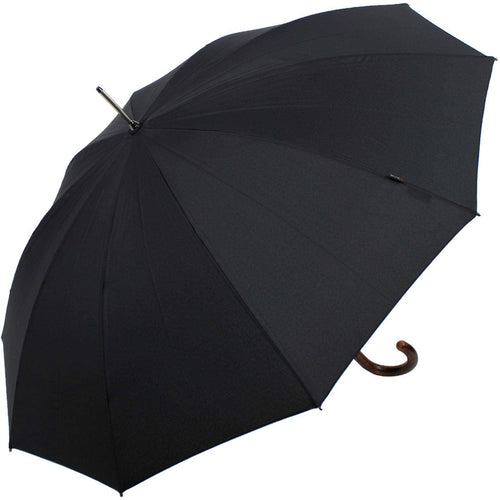 Long AC with Crook Maplewood Handle Walking Umbrella (5774914551972)