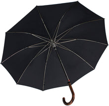 Load image into Gallery viewer, Long AC with Crook Maplewood Handle Walking Umbrella (5774914551972)
