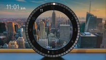 Load and play video in Gallery viewer, LED Digital Wall Clock Dual-Use Dimming Digital Circular Photoreceptive Clocks