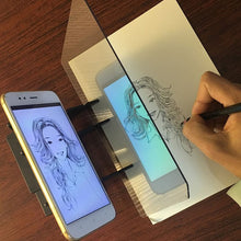Load image into Gallery viewer, Kids LED Projection Drawing Copy Board Projector Painting Tracing Board Sketch Specular Reflection Dimming Bracket Holder