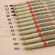 Load image into Gallery viewer, Needle point Line Pen Art Hook crayon waterproof  Drawing fine School Office Drawing Painting Stationery
