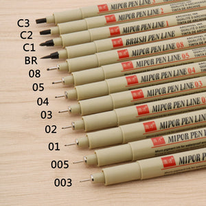 Needle point Line Pen Art Hook crayon waterproof  Drawing fine School Office Drawing Painting Stationery