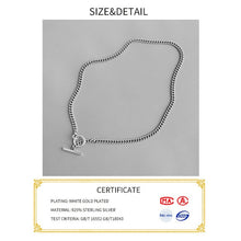 Load image into Gallery viewer, 100% 925 Sterling Silver Pendant Neckelace For lady Plated Jewellery