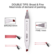 Load image into Gallery viewer, ( Christmas Gits)[Fast Shipping] Markers 12/80/168 Color Sketch Art Marker Pen Double
