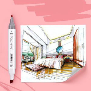 ( Christmas Gits)[Fast Shipping] Markers 12/80/168 Color Sketch Art Marker Pen Double