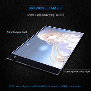 Ultra-Thin Portable LED Light Box Dimmable Brightness for Drawing Sketching