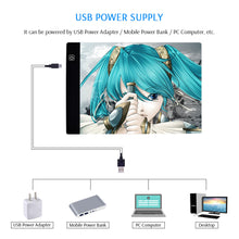 Load image into Gallery viewer, Ultra-Thin Portable LED Light Box Dimmable Brightness for Drawing Sketching