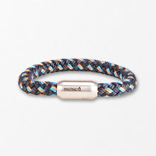 Load image into Gallery viewer, Rope Bracelet Blue and Orange