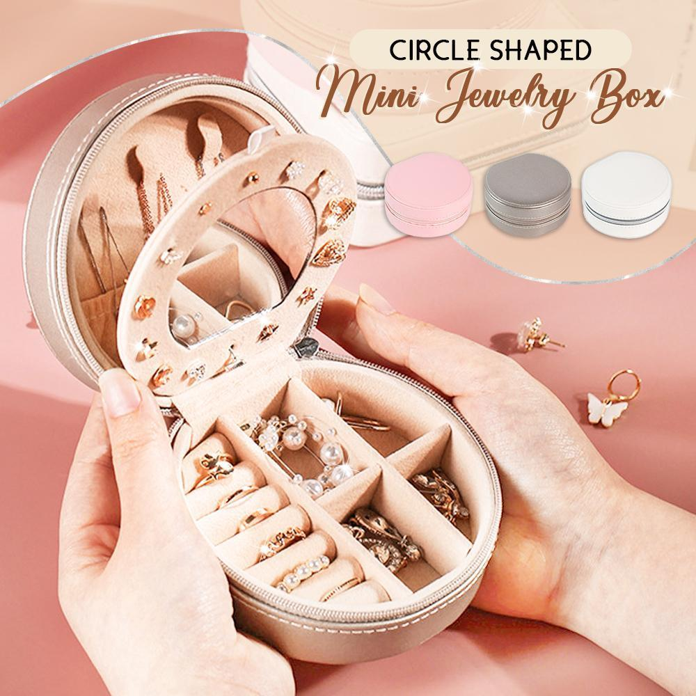 Circle Shaped Mini Jewelry Box