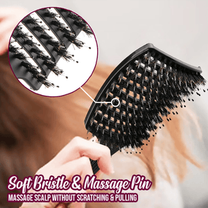 SilkyKiss Bristle Nylon Hairbrush