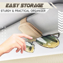 Load image into Gallery viewer, Premium Leather Car Sun Visor Organizing Clip