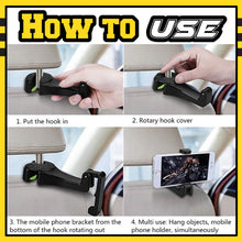 Load image into Gallery viewer, 2 in 1 Auto Vehicle Back Seat Headrest Hanger 1688
