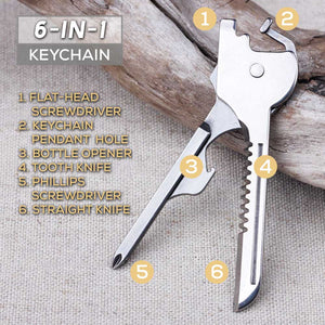 Outdoor Portable 6-in-1 Keychain