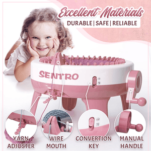 SENTRO Auto Knitting Loom Machine(Free Crochets & Yarn)