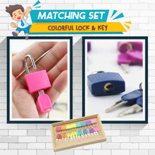 Load image into Gallery viewer, Montessori Matching Colorful Key