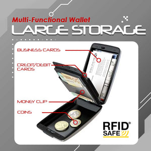 RFID-Proof Alloy Secured Slim Wallet