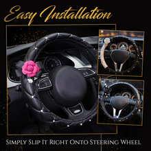 Load image into Gallery viewer, Pearl Camellia Steering Wheel Cover