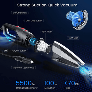 120W 10X Car Vacuum Cleaner